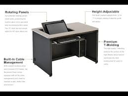 Recessed Computer Desk The Revolution Recessed Monitor Desk Versa Tables