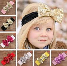 baby girl headwraps big sequin bow baby girl cotton headbands children kids turban