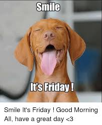 Have A Great Day Meme - smile it s friday smile it s friday good morning all have a