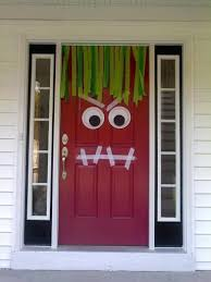 Frankenstein Door Decoration Halloween Decorations That I Can Even Make Holidays Halloween