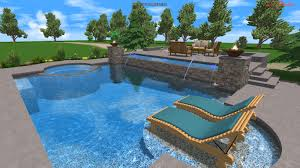 Swimming Pool Furniture by Swimming Pool Designs With Spa And Photos Madlonsbigbear Com