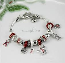 charms bracelet designs images Hot sale diy beaded silver beads red hope dancer charm bracelet jpg