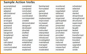 7 action words examples report example