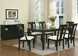 traditional casual dining room with 6 pieces tahoe rectangular