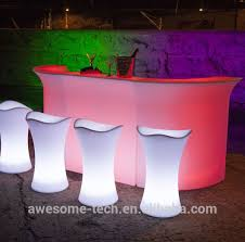 Led Bistro Table Led Bistro Table With In Snack Bar Ideas Interesting Design