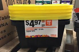 home depot black friday 2017 coupnes hdx 12 gallon tough totes only 4 97 at the home depot reg