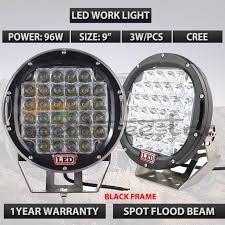 round led driving lights 96w black led driving light 9inch 9 round led work light red led