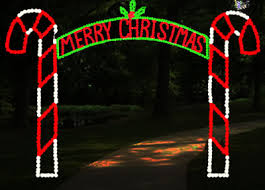 arch 12ft merry or happy holidays led