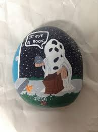 Rock Garden Decor Hand Painted Charlie Brown Garden Rock Charlie Brown I Got A Rock