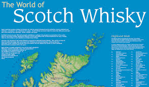 Scotch Whisky Map World Of Scotch Whisky Map 2015 Whiskytower