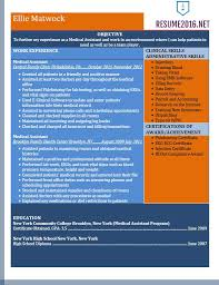 Sample Net Resumes For Experienced by Resume Example For Medical Assistant In 2016