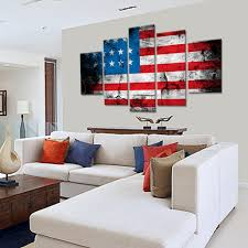 American Flag Living Room by Grunge American Flag Multi Panel Canvas Wall Art U2013 Elephantstock