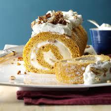 Cake Recipes Thanksgiving Pumpkin Roll Recipe Taste Of Home