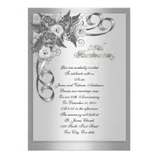 25th wedding anniversary invitation wording image collections