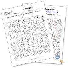 math maze worksheetworks com education pinterest maze
