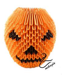 origami halloween 3d origami halloween pumpkin by majka16g on deviantart