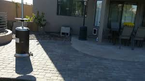 Concrete Patio With Pavers Paver Patio Extension And Walkway