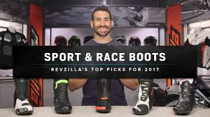 sport riding boots best motorcycle racing boots 2017 at revzilla com youtube