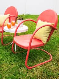 Antique Metal Patio Chairs Retro Metal Patio Chair And Table Makeover Hearts