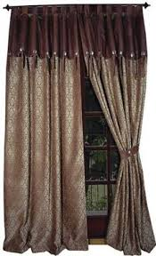 Cabin Style Curtains Starlight Trails Chocolate Valance Western Valance