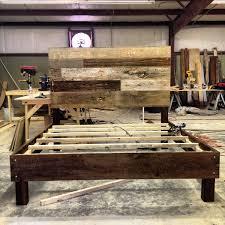 distressed wood bed frame susan decoration