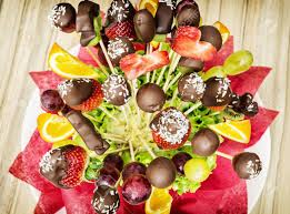 s day fruit bouquet tasty fruit bouquet with chocolate frosting gift for you special