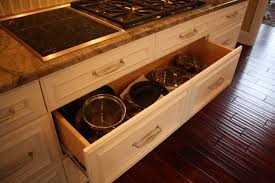 drawers in kitchen cabinets deep pan drawer traditional kitchen cleveland by