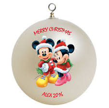 personalized mickey mouse minnie mouse ornament gift
