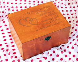 engraved memory box wedding keepsake box etsy