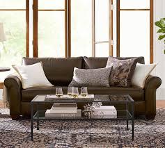 Leather Sofa Slipcover by Sofas Center Pottery Barn Chesterfield Upholstered Basic Sofa