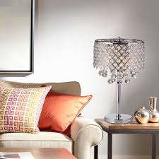 magnificent crystal table lamps for bedroom concept and kitchen