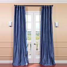winter blue silk curtains half price drapes