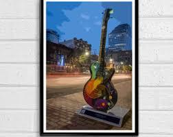 Guitar Home Decor Guitar Pop Art Etsy