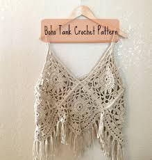boho crochet boho tank crochet pattern crochet top pattern boho tank