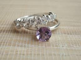 Purple Wedding Rings by 34 Best Wedding Rings Images On Pinterest Rings Amethyst
