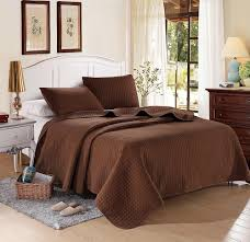 Solid Color Quilts And Coverlets Chocolate Solid Color Quilt Full Queen 2 Shams 20