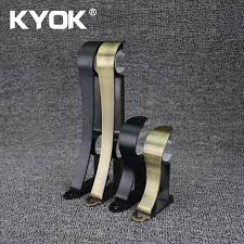 kyok 2017 iron curtain rod brackets snakelike designed brackets
