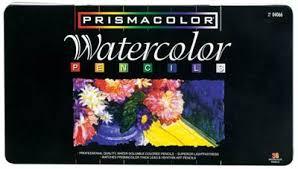 prismacolor watercolor pencils prismacolor watercolor pencil 36 color tin aoe artworld