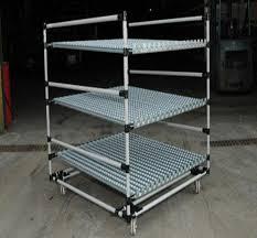 lo scaffale lo scaffale di tubo d acciaio resistente con le ruote della