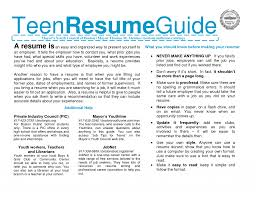 Help Create A Resume Nice Design Ideas How To Make A Resume For Teens 15 How Teenage