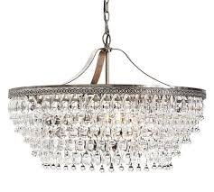 Best Way To Clean Chandelier Crystals Clarissa Crystal Drop Round Chandelier Pottery Barn