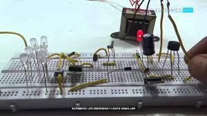 automatic led emergency lights using ldr youtube