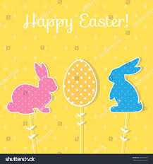 easter paper decoration form bunny egg stock vector 608137673