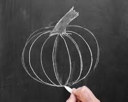 thanksgiving chalkboard art how to draw a chalk pumpkin lily u0026 val living