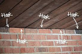 how to hang lights on house how to hang lights on patio ceiling how to install string patio