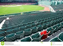 Fenway Map Lone Red Seat At Fenway Park In Boston Ma Editorial Photo Image