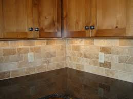 travertine tile backsplash with white cabinets beautiful