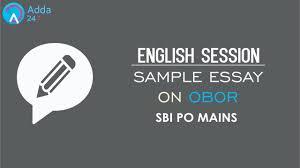 english sample essay english sample essay on obor sbi po mains online coaching english sample essay on obor sbi po mains online coaching for sbi ibps bank po