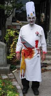 chef costume a chef costume including make up and open wound to