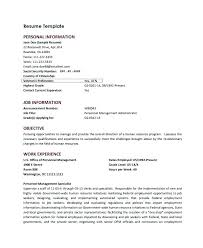 html resume template html resume template personal templates for federal